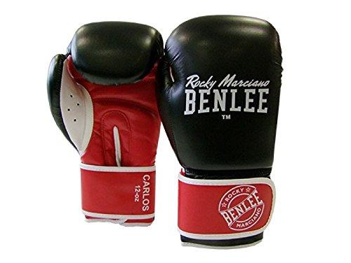 BENLEE Boxhandschuhe CARLOS PU Boxing Gloves - Black/Red/White Größe 10