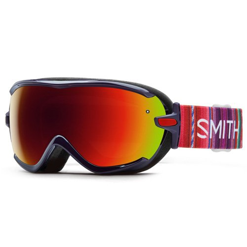 Smith Damen Virtue SPH Skibrille, Rot Sol-X Mirror/Cusco, One Size