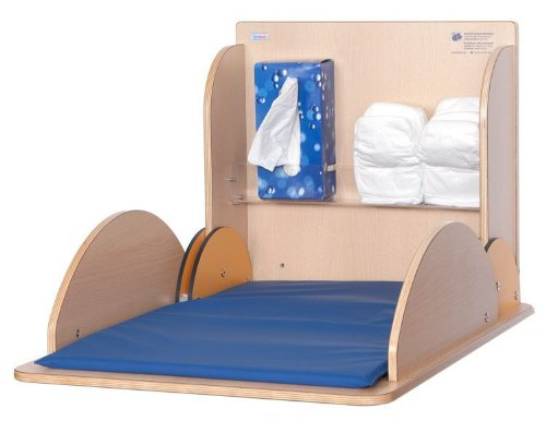 Changing table made of wood with HPL coating available in four different colours, Couleur:Hêtre