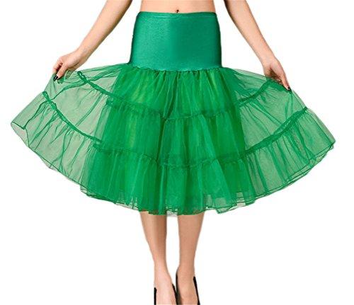 Damen Retro Hochzeit Petticoat Reifrock Unterrock Rockabilly Kleid Puff Rock # 11