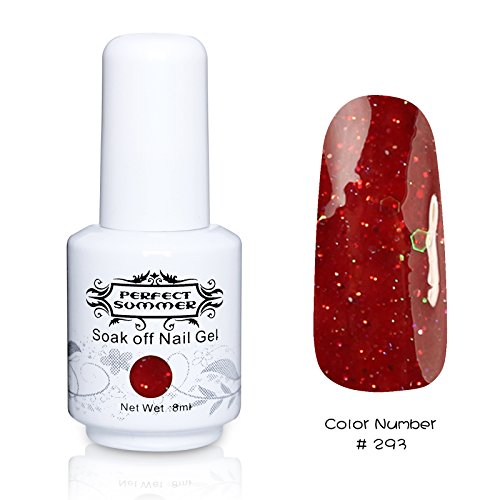 Perfect Summer 1pcs 8ml Vernis à Ongles Semi-Permanent UV LED Soak Off Gel Nail Polish #293