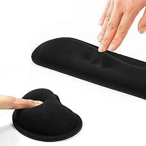 MWXXMauspad Durable Memory Foam Set Rutschfeste Maus Handgelenkstütze / Tastatur Handgelenkstütze für Bürocomputer