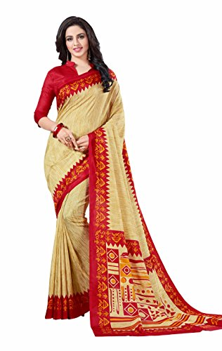 Miraan Printed Art Silk Saree for women with blouse (5872)
