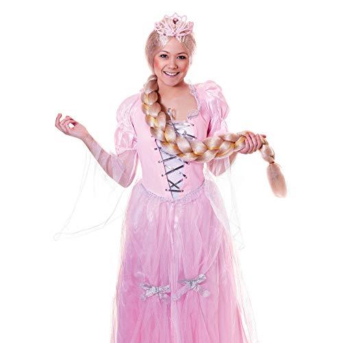 Bristol Novelty bw744lang geflochten Perücke, blond, eine (Rapunzel Kostüm Für Erwachsene)