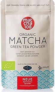 Matcha Tee Pulver | Bio Zeremonie Qualität für extra milden Teegenuss | Ideal für Tee, Smoothies und Lattes |