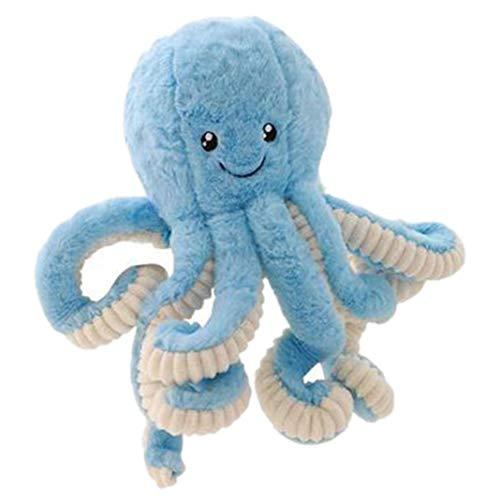 Simulación precioso colgante pulpo de peluche rellenos blandos animales para el Hogar regalos de la muñeca de los niños animal lindo (azul)