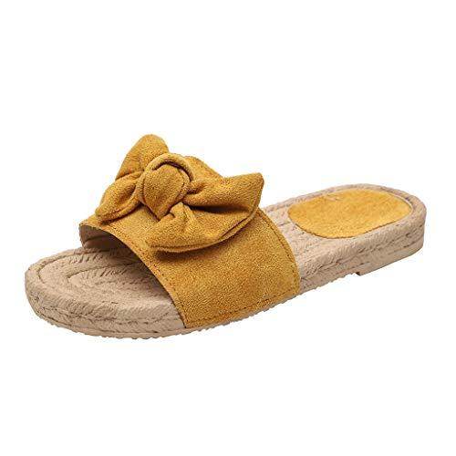 VECDY Sandalias Mujer Verano 2019, Zapatillas De Playa Planas con Nudo En Forma De Mariposa con Nudo...