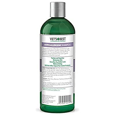 Vets Best Hypo-Allergenic Dog Shampoo for Sensitive Skin, 470 ml by The Bramton Company
