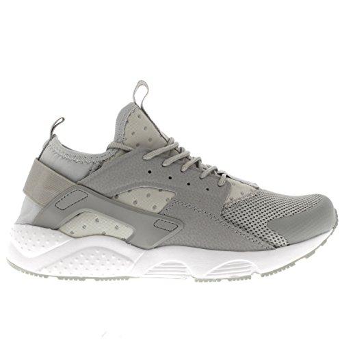 Hommes Respirant Poids Léger Sports Mode Confortable Chaussures Plates Gym Formateurs Gris/Blanc