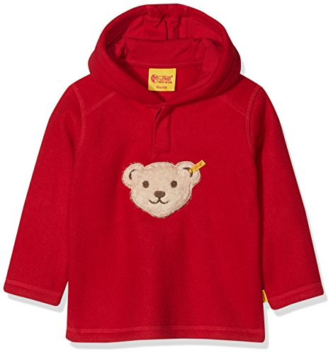 Steiff Baby-Jungen 1/1 Arm Fleece Sweatshirt, Rot (Jester red 2120), 80 Baby-fleece-sweatshirt
