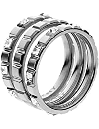 DKNY Damen-Ring Edelstahl Kristall Glaskristall silber NJ2119040-9