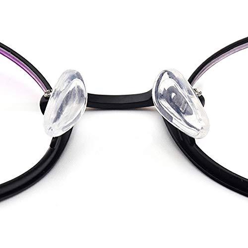 Nasenpads aus Silikon, Tropfenform, 15 mm, transparent, 20 Paar