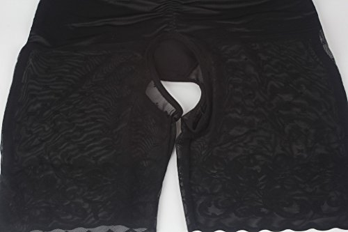 DODOING Shapewear Damen Body Stark Formend Bauch Weg Frauen Ganzkörper-Shaper Oberschenkel Schlanker Firm Tummy Control Open Bust Bodysuit Schwarz