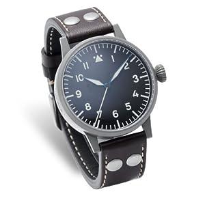 Laco 1925 - Reloj analógico manual para hombre con correa de piel, color marrón de Laco