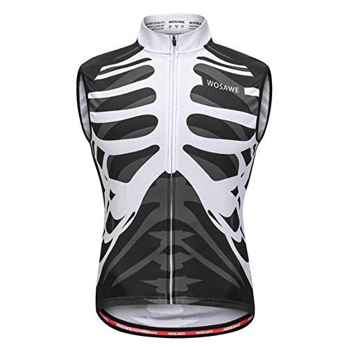 Ärmelloses Herren-Radunterhemd, Atmungsaktive Oberteile, Schnelltrocknende Fahrrad-Unterziehwesten, Fahrradbekleidung Kreatives Muster zum Laufen,XXL