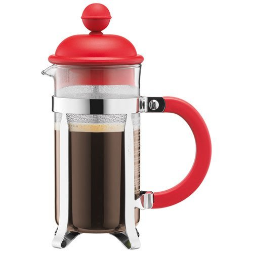 ffeebereiter (French Press System, Permanent Edelstahlfilter, 0,35 liters) rot ()