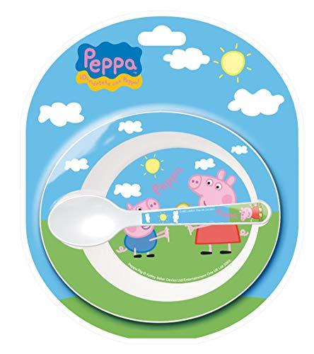 SET MICRO BABY 2 PCS. CUENCO Y CUCHARA PEPPA PIG