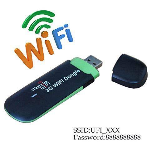 KuWFi - Dongle USB 3G WiFi, Portatile, 7.2Mbps 2100mhz 3G WiFi, Router Wireless per Auto con Slot per Scheda SIM, Supporto Rete 3G per Lavoro Interno ed Esterno (Scheda SIM Non Inclusa)