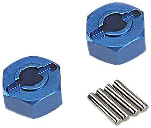 Traxxas 1654X Hex/Axle Pins Rueda Hub Modelo Coche Piezas, Azul, 1,5 x 8 mm