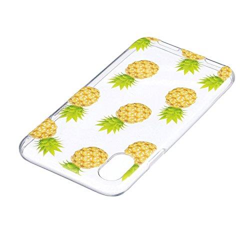 """Hülle für Apple iPhone X , IJIA Transparent Niedlich Totoro TPU Weich Silikon Stoßkasten Cover Handyhülle Schutzhülle Handytasche Schale Case Tasche für Apple iPhone X (5.8"""") HX24"""