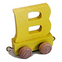 Childrens Personalised Wooden colourful Alphabet Letter Train A-Z Name Set