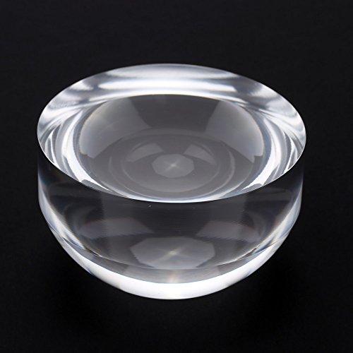 KKmoon 5 x 80mm Magnifier Crystal Acryl-Glas-Kuppel Bildschirmlupe Briefbeschwerer Landkarte Vergrößerungswerkzeug für Lesehilfe