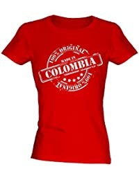 Made In Colombia - Ladies Fitted T-Shirt T Shirt Tee Top