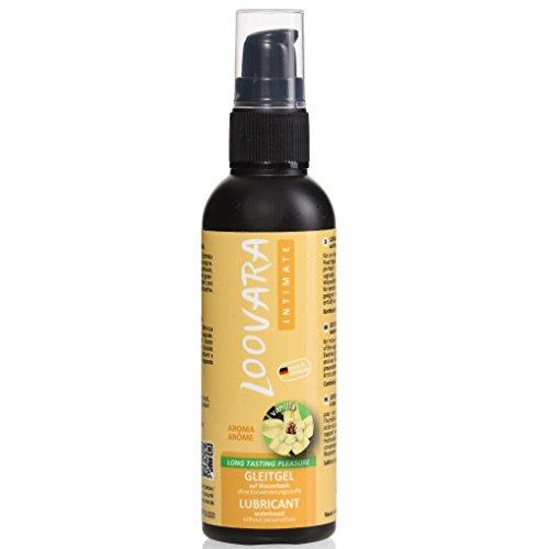 Loovara gel lubricante 100ml en base agua de aloe vera con aroma natural de vainilla