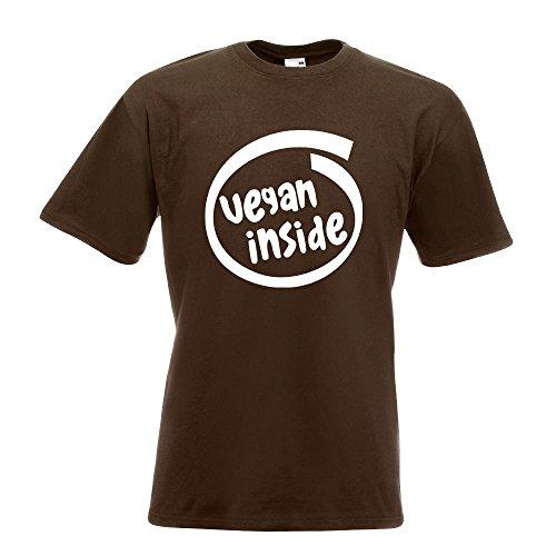 KIWISTAR - vegan inside T-Shirt in 15 verschiedenen Farben - Herren Funshirt bedruckt Design Sprüche Spruch Motive Oberteil Baumwolle Print Größe S M L XL XXL Chocolate