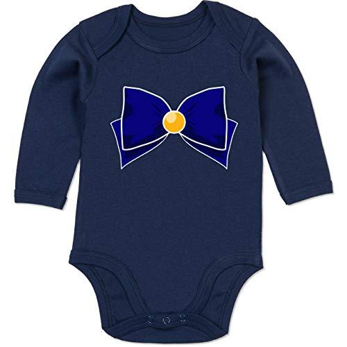 Shirtracer Karneval und Fasching Baby - Superheld Manga Venus Kostüm - 12-18 Monate - Navy Blau - BZ30 - Baby Body Langarm