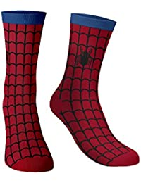 The Souled Store Boy's Cotton Nylon and Spandex and Printed Spider-Man Spin The Web Socks (Multicolour, Medium)