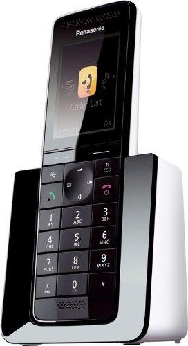 Panasonic KX-PRS110SPW - Teléfono fijo digital, color negro