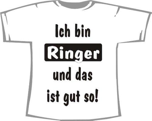 Ich bin Ringer und das ist gut so; Kinder T-Shirt weiß, Gr. 1-2 (Ringer T-shirt 2 Kinder)