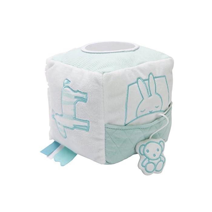 Tiamo Hase Miffy Mint großer Stoff Spielwürfel Baby Stoffwürfel