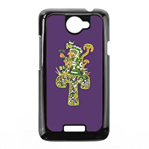 HTC One X Cell Phone Case Black Aztec magic mushroom character 2 KNP Design Back Cell Phone Case