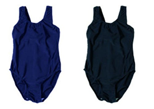 Girls Swimming Costume School Uniform Black Navy Ages 4 - 13