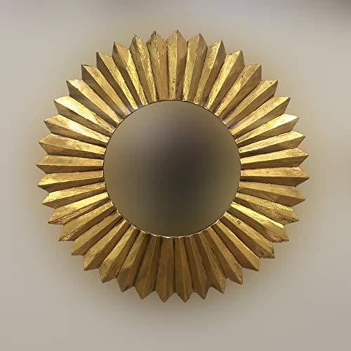 Rococo Espejo Decorativo Tipo Sol Madera Surya Circle