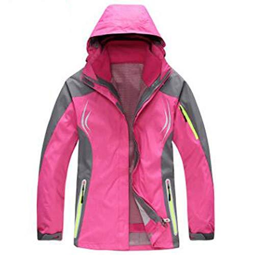 WU LAI Outdoor-Abenteuer Verschleißfest Atmungsaktiv Frau Jacken Herbst Kletternde Kleidung Outdoor-Bekleidung,Pink-XL (Wear Jacke Wu)