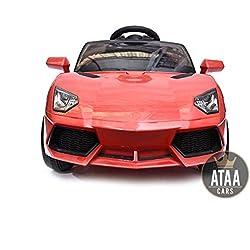 Coche eléctrico niños 12v estilo Lamborghini con mando - Potente batería 12v - Nº1 Ventas en Amazon - Rojo