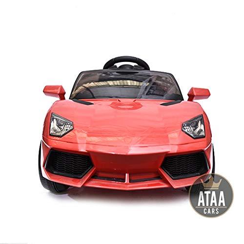 Coche eléctrico niños 12v estilo Lamborghini con mando - Potente batería 12v...