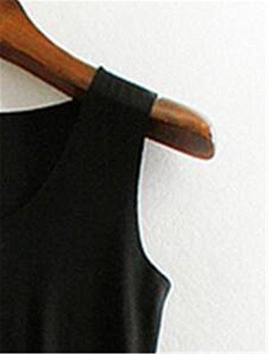 Aoliait Slim Fit Donne Camicetta Puro Colore T-Shirt Donne Estivi Elegante Canotta Senza Maniche Camicetta Casual Tops Maglietta Black
