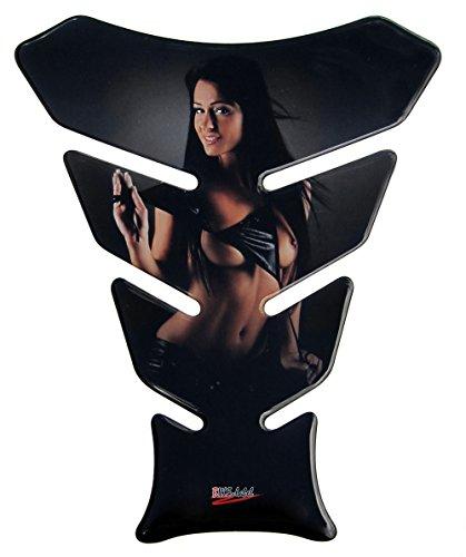 Tankpad 3D 501211 Woman in Black - universeller Tank-Schutz passend für Motorrad-Tanks -