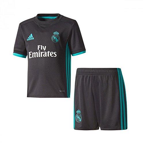 adidas Kinder Auswärtsausrüstung Real Madrid Auswärt Mini Kit, Black/Aerree, 110 Preisvergleich