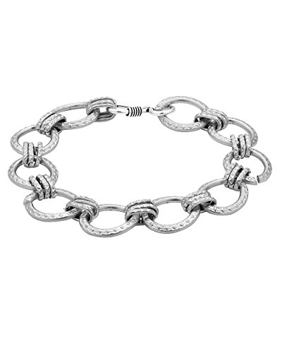 Voylla Bold and stylish men's bracelet in silver tone  available at amazon for Rs.148