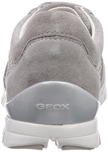 Geox D Sukie A, Baskets mode femme Gris (Lt Greyc1010)
