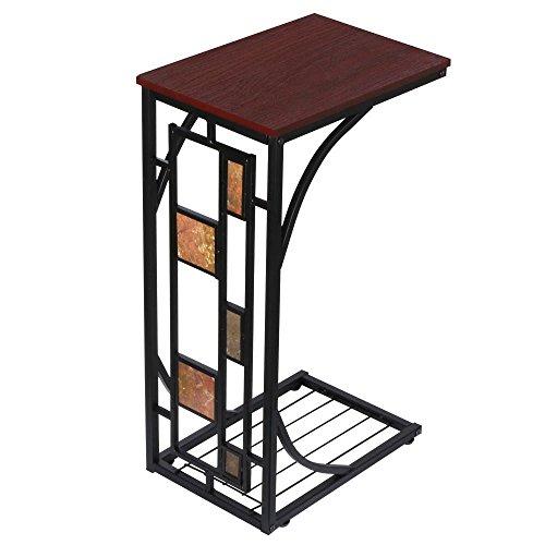 Yaheetech tavolino da salotto moderno comodino da letto tavolino laterale per divano