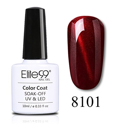 Elite99 Nail-Art Liner fine Liner UV LED Nagellack uv gel shellac set sock off gel peer off nagellack uv farbgel gel nägel Nail Art polish 1 Flasche je 7ml