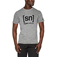 super.natural Herren M Essential I.d. Tee Merino T-Shirt
