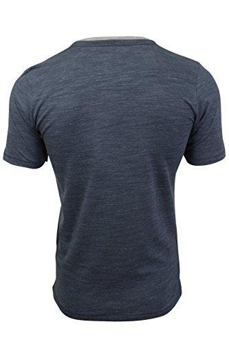 Tokyo Laundry Herren T-Shirt, Einfarbig blau blau Vintage Indigo