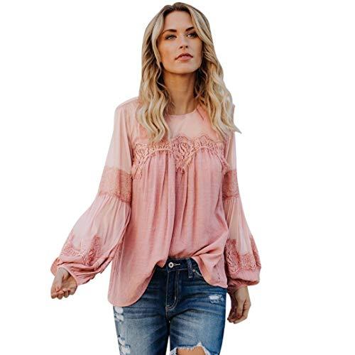Camisas Mujer Primavera Otoño Chiffon Blusas Festival Sólidos...